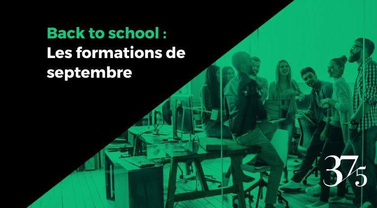Académie 37.5 Formation : l'agenda septembre & octobre